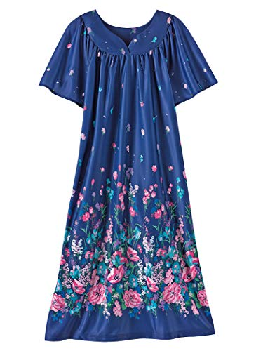 - AmeriMark Lounger House Dress with Pockets for Women Muu Muu Nightgown