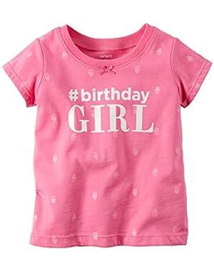 Birthday Tee, Pink, 18 Months