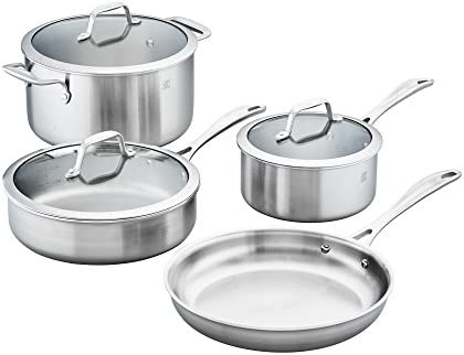 ZWILLING J.A. Henckels 64090-000 Spirit Stainless Steel Cookware Set, 7-pc