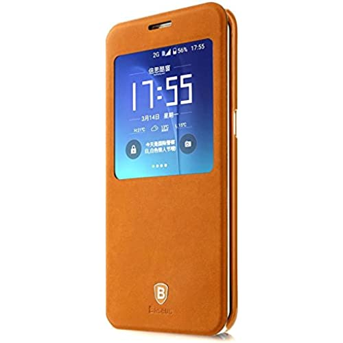 Neo Generation Baseus Samsung Galaxy S7 G9300 and Galaxy S7 Edge Flip Case (Galaxy S7 Edge - Brown) Sales