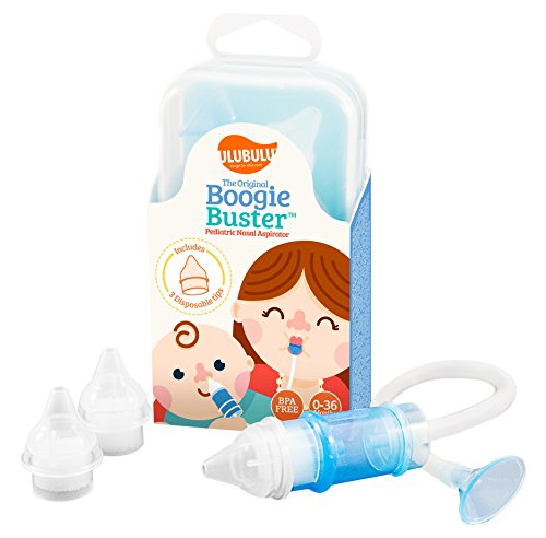 The Original Boogie Buster Pediatric Nasal Aspirator with 3 Disposable Filter Tips