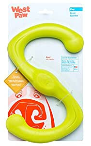 West Paw Zogoflex Bumi Interactive Tug of War Durable Dog Play Toy, 100% Guaranteed Tough, It Floats!, Made in USA, Large, Granny Smith