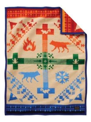 Pendleton Coyote Steals Fire Crib Wool Blanket