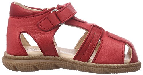 Pololo Playa - Sandalias Cerradas de Cuero Niños^Niñas rojo - Rot (Berry)