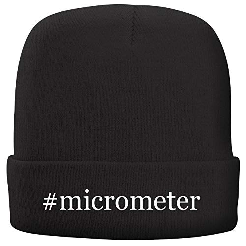 (BH Cool Designs #Micrometer - Adult Hashtag Comfortable Fleece Lined Beanie, Black)