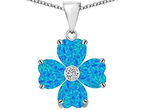 Star K Sterling Silver 6mm Heart Shape Lucky Clover Pendant Necklace