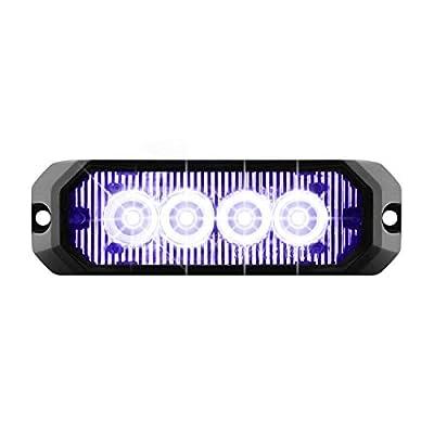 GG Grand General 81806 Blue/Clear LED Strobe Light (4