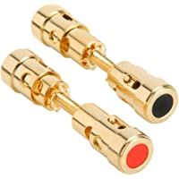 Parts Express Dual-Ended Gold Binding Post Speaker Terminal Pair