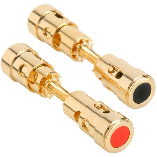Parts Express Dual-Ended Gold Binding Post Speaker Terminal - Bindings Gold