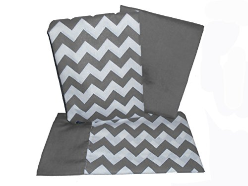 Baby Doll Bedding Chevron Pillowcase and Sheet Set for Crib and Toddler Bed, ()