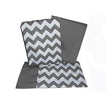 BabyDoll Chevron Crib and Toddler Sheet Set, Grey