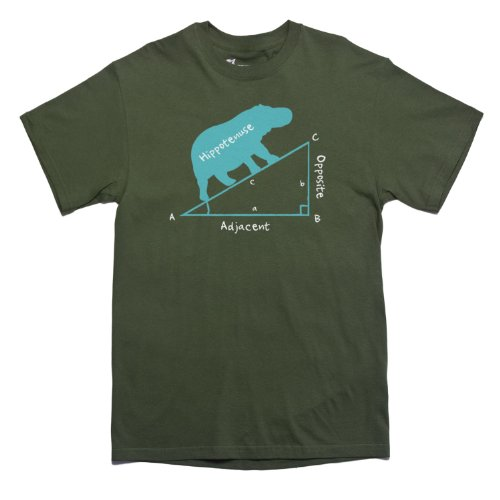 Rocket Factory Hippotenuse Hippopotamus Hypotenuse Men's t-shirt