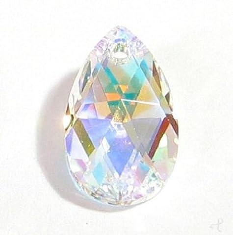 1 pc Swarovski Crystal 6106 Teardrop Clear AB Charm Pendant Bead 38mm / Findings / Crystallized - Ab Swarovski Crystal Drop Bead