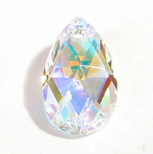 1 pc Swarovski Crystal 6106 Teardrop Clear AB Charm Pendant Bead 38mm / Findings / Crystallized (Swarovski Teardrop Beads)