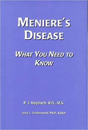 Meniere S Disease What You Need To Know 9780963261113 Medicine Health Science Books Amazon Com