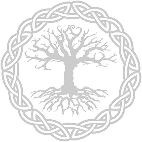 Samunshi Aufkleber Yggdrasil Mit Knoten 1 Vikings Wikinger Für Auto Motorrad In 11 Größen Und 25 Farben 10x10cm Silber Küche Haushalt
