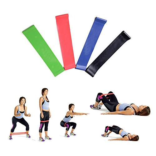 Darhoo Resistance Loop Bands Available for Shaping Muscles Arms Buttocks Legs and Back Home Outdoor and Gym Strength Training Equipment Pack of 4