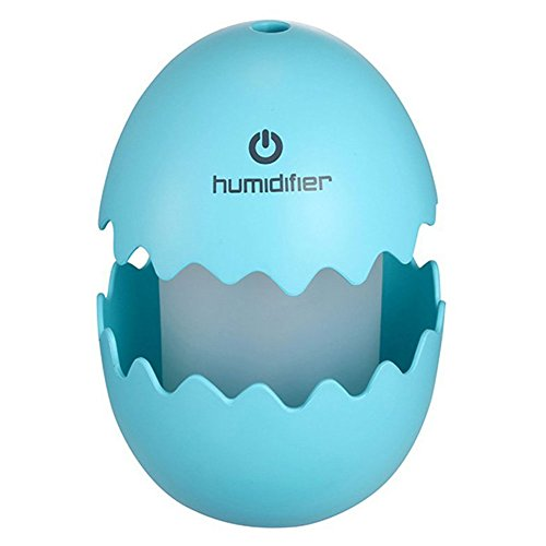 Starsprairie Mist Humidifier Air Diffuser Portable 7 Color LED Night Light 100ML Cracked Egg Touch Switch for Travel Car Office Home Yoga Spa (Blue) by Starsprairie