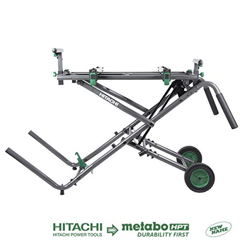 Hitachi UU240R Heavy Duty Fold & Roll Universal Miter Saw Stand (Discontinued by the Manufacturer)