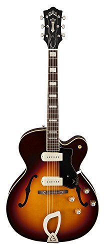 Guild X-175 Manhattan Hollow Body Electric Guitar with Case (Antique Burst)