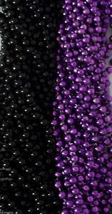 Purple Black Ravens Mardi Gras Beads Football Tailgate Party Favors Lot 24 48 72 by Party Supplies