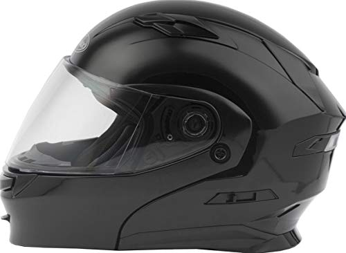 GMAX MD-01 Adult Solid Modular Motorcycle Helmet - Black/X-Large