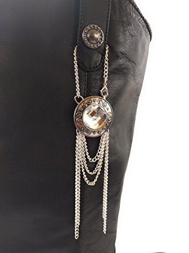 Cowboy Boot Pull Strap Loop Jewelry Silver Chain