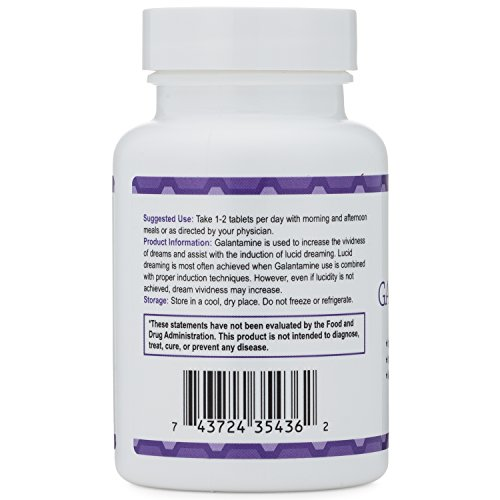 Galantamine - Lucid Dreaming & Nootropic Supplement - 4 Mg - 60 Tablets by Double Wood Supplements (Image #4)