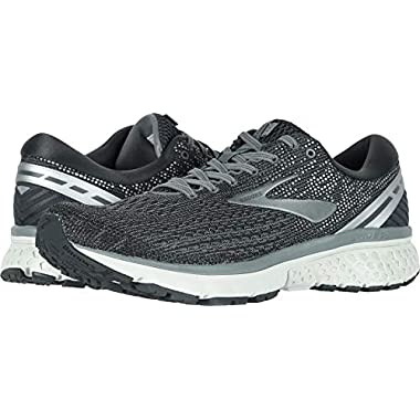0021e43aee080 Brooks Men s Ghost 11 Ebony Grey Silver 7 EE US
