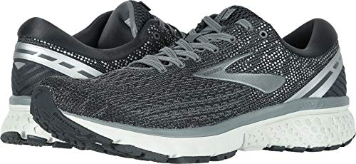 Brooks Men's Ghost 11 Ebony/Grey/Silver 7 D US