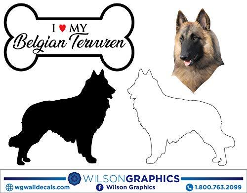 Belgian Tervuren - Dog Breed Decals (Set of 16) - Sizes in Description ()