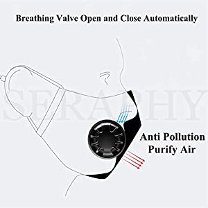 2 Pack Face Covers with 4 Air ...