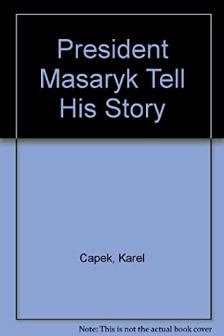 book cover of President Masaryk Tells His Story