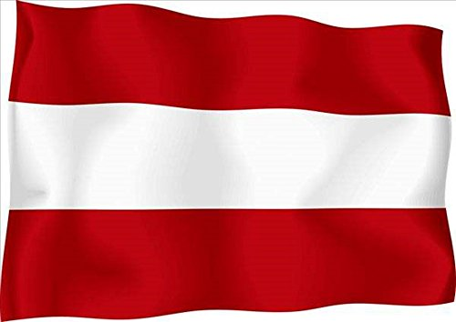 Aimto 3x5 ft Austria Flag - Bright Colors And Anti-Fading Materials -Austrian Flags Polyester Canvas And Brass Buttonhole - Quality Assurance