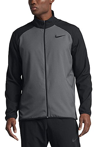 New Nike Men's Dry Team Training Jacket Dk Grey/Black/Black Large