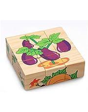 لعبة بازل مكعبات خشبية - 9 قطع للاطفال من عمر تويز