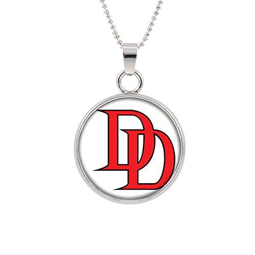 Daredevil Pendant Necklace Marvel Comics 2018 Movies Cartoon Superhero Logo Theme Charlie Cox Premium Quality Detailed Cosplay Jewelry Gift Series