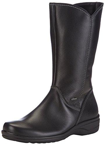 Ganter HANNA-STIEFEL, Weite H, GORE-TEX - botas de caño alto de cuero mujer negro - Schwarz (schwarz 0100)