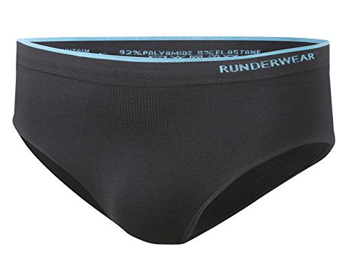 Runderwear Men's Brief, Seamless, Chafe-Free Performance Underwear, Ideal for Running, Fitness/Gym, and Other Sports