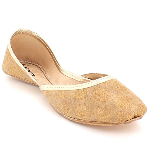 Shoes Bridal Khussa Indian Pumps Oro Ladies Slip Jutti Mojari Handmade Donna Aarz In On Traditional Piatta London Ethnic Pelle Size OXwB6xqTv