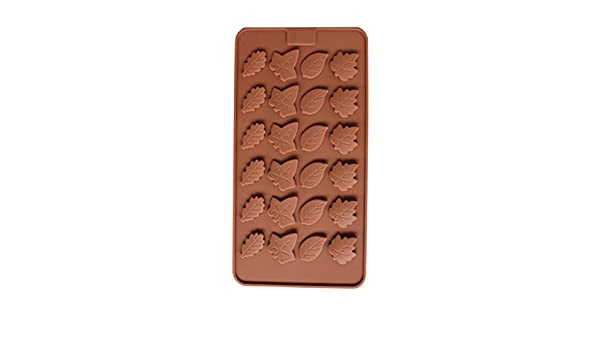 Amazon.com: Leaf Silicone Candy Mold Trays for Chocolate Cupcake Toppers Gummies Ice Soap Butter Jelly Cake Decoration Regard: Home & Kitchen