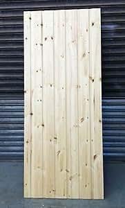5FT HIGH FLAT TOP GARDEN GATE REDWOOD HEAVY DUTY - JIG (750MM)