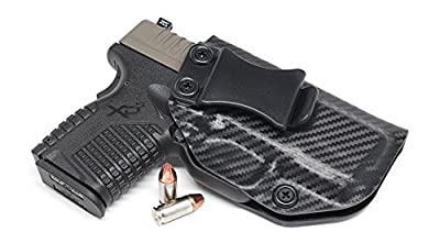 """Concealment Express IWB KYDEX Holster: fits Springfield XD-S 3.3"""" 9MM/40SW/45ACP - Custom Fit - US Made - Inside Waistband - Adj. Cant/Retention"""