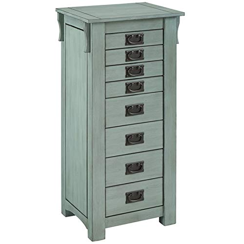 - Powell Ziva 8 Drawer Jewelry Armoire in Teal