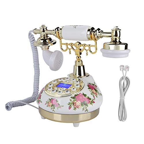 Retro/Old Fashion Telephone/Vintage Phone,Replica Antique Telephone for Home/Office,Big Button Landline,Corded Telepone,FSK/DTMF Dual System,Wired Phone with Pause Function/Redial/Caller ID from Tangxi