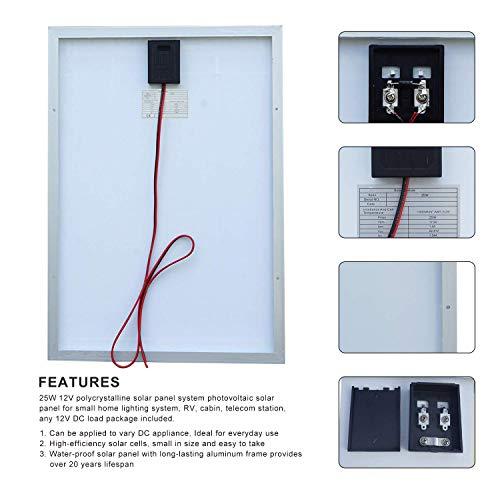 20 Amp 12V//24V PWM Solar Charge Controller ECO-WORTHY 12 Volt 20W Solar Charging Kit 1pc 20 Watt Polycrystalline Photovoltaic Solar Panel