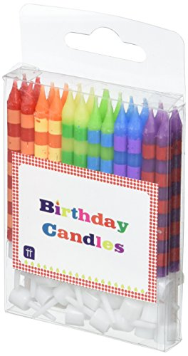(Talking Tables HB Birthday Cake Striped Candles, Multi)