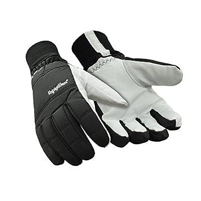 RefrigiWear Insulated Nylon & Goatskin Leather Gloves Black