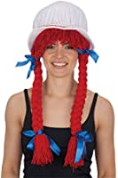 Jacobson Hat Company Women's Bonnet with Red Braids