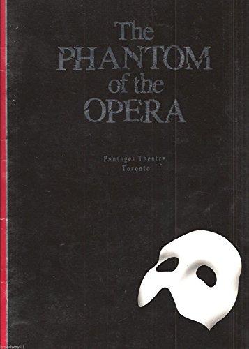 """Colm Wilkinson """"PHANTOM OF THE OPERA"""" Rebecca Caine 1989 Toronto, Canada Souvenir Program"""